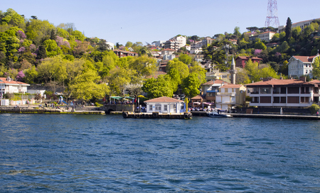 hisari: View of a neighborhood on Asian side of Istanbul from boat tour