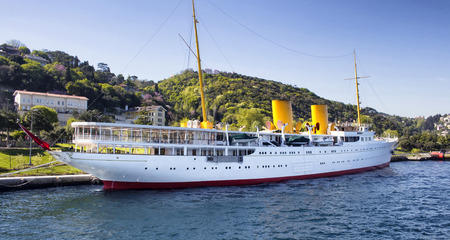 Famous Savarona yacht that the Founder of Turkish Republic used to use in Istanbul