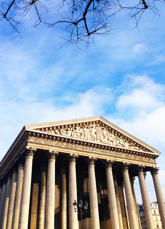 the madeleine: La Madeleine church in Paris Stock Photo