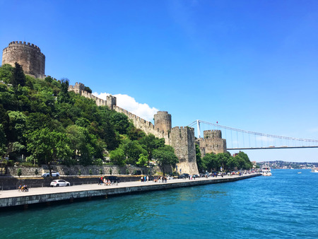 rumeli: Rumeli Castle, Bosphorus bridge and bosphorus in Istanbul