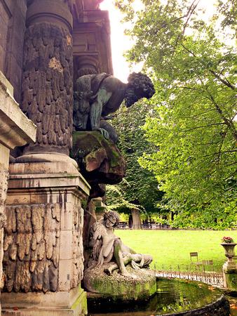 Fontaine de Medicis in Jardin Du Luxembourg in Paris Stock Photo