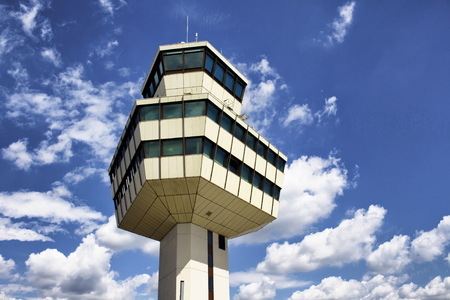 traffic controller: Control tower of Tegel airport in Berlin Editorial