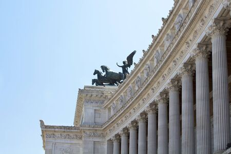 altar of fatherland: Side view of Altar of Fatherland at Piazza Venezia in Rome