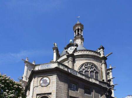 frence: View of a traditional, old church in Paris