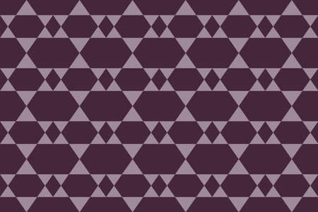 Seamless, abstract background art made with geometric shapes in purple color. Decorative vector art. Illusztráció
