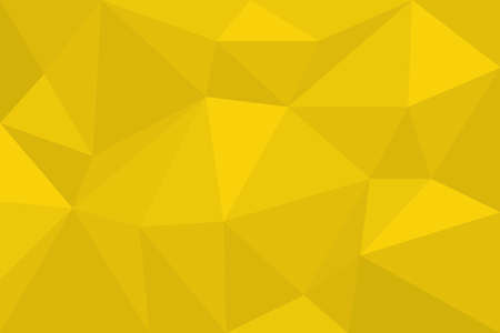Abstract background pattern made with polygonal and triangular shapes in tones of yellow color. Modern, futuristic vector art.
