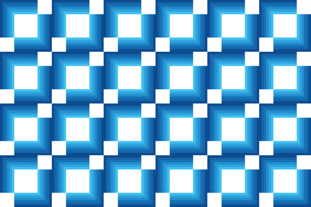 Seamless, abstract background pattern made with repeated strokes creating optic / hypnotic effect. Geometric and modern vector art in different tones of blue.