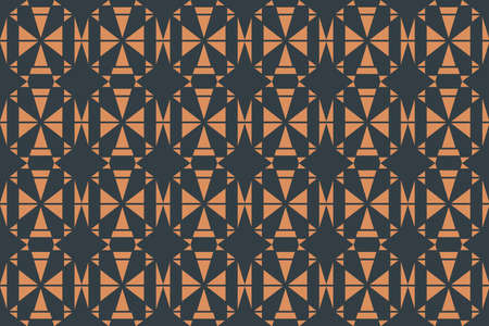 Seamless, abstract background pattern made with triangle shapes. Decorative, geometric vector art. Illusztráció