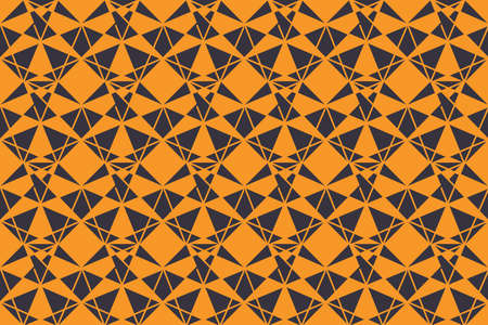 Seamless, abstract background pattern made triangle shapes in technology abstraction. Decorative and geometric vector art in yellow and blue colors.