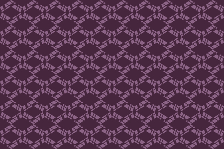 Seamless, abstract background pattern made with geometric shapes in tones of pink color. Decorative vector art.