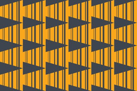 Seamless, abstract background pattern made triangle shapes and lines. Modern and bold vector art yellow and grey colors.