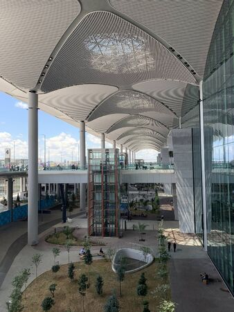View of the entrance area of new Istanbul airport.