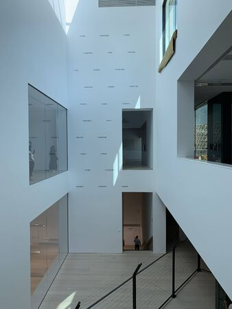 Interior view of newly opened contemporary art museum in Istanbul.