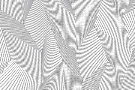 Abstract background pattern made with repeated lines forming 3 dimensional geometric forms. Modern, simple and architectural vector art.