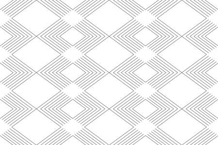 Seamless, abstract background pattern made with repeated lines forming chevron / rhombus shapes. Modern, dynamic and simple vector art.