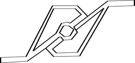 A geometric design, abstract high voltage breaker Stok Fotoğraf - 30021109