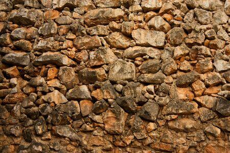 Brick wall used as a room or a floor hallway