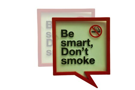 A warning label used by the Internet. Smoking ban in place isolated white background.