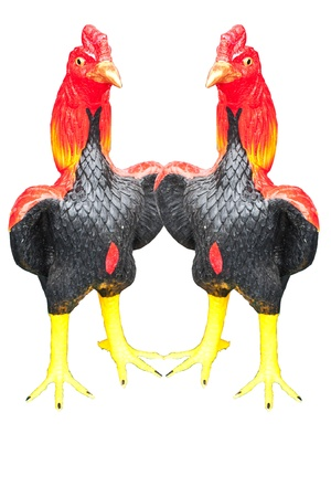 envisage: Two chicken is chicken made ​​of stucco