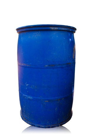 Blue bins. Often seen at typical homes. Stock Photo