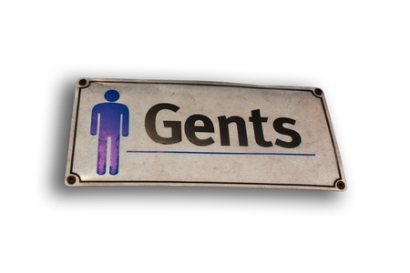 nameplate: Mens nameplate. Plates signs to the bathroom. Stock Photo