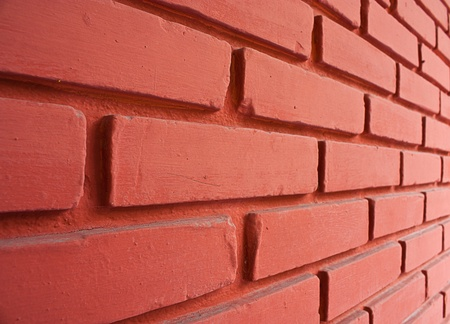 Red brick walls. Often seen in the general construction houses. photo