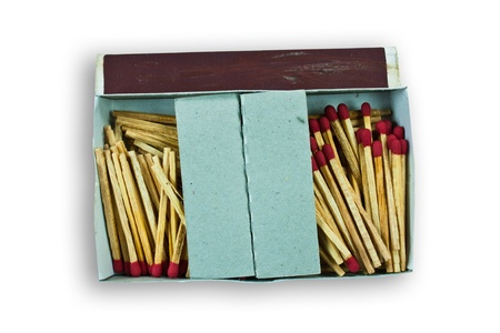conscription: Many matches were placed in the carton. Stock Photo