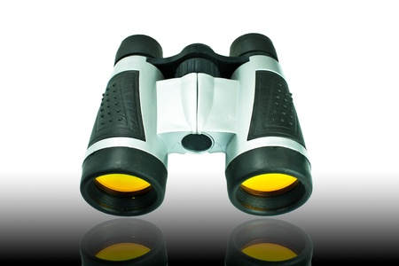 optical equipment: Optical equipment for searching on white background
