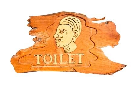 Restroom signs for men made of wood. photo