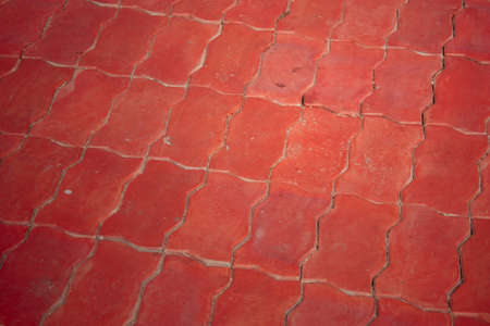 Brick worm  is installed on the walkway to use the background Stock Photo