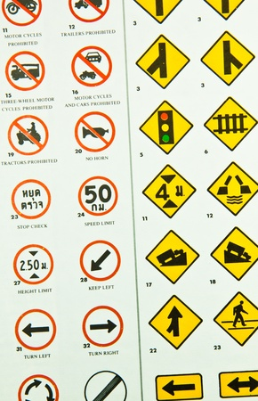 Traffic signs The restrictions and precautions on the road  Stock Photo - 12869786