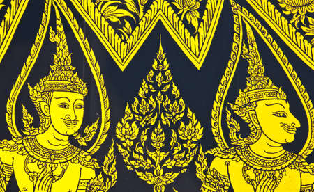 This is an art that is often seen by the wall paintings in Thai temples  No any trademark or restrict matter in this photo