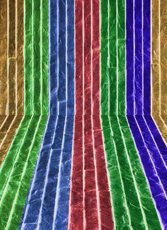The wall of multi colored stone with  perspective pattern Stock Photo - 13061597