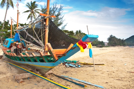 repaired: Fishing boats that are waiting to be repaired