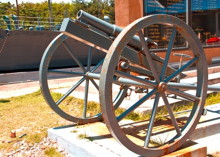 Antique guns on display in the South of Thailand