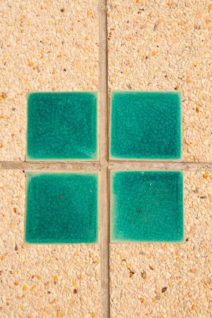 Tiles in the tile surface facing the green Stock Photo - 14208532