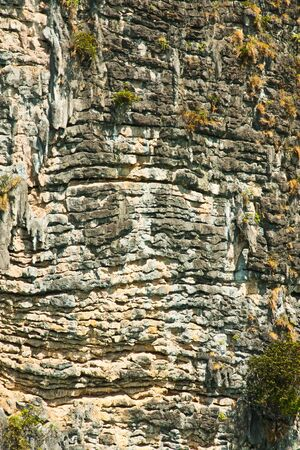 The nature of the stone wall that is part of the mountain Stock Photo - 14557921