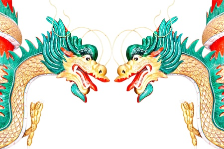 The Dragon status isolated on white background  Stock Photo - 15478805