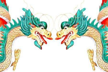The Dragon status isolated on white background Stock Photo - 15478805