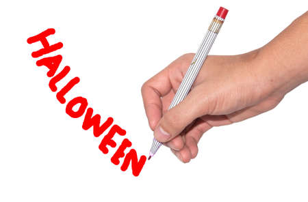 Halloween written word  which this is festival day