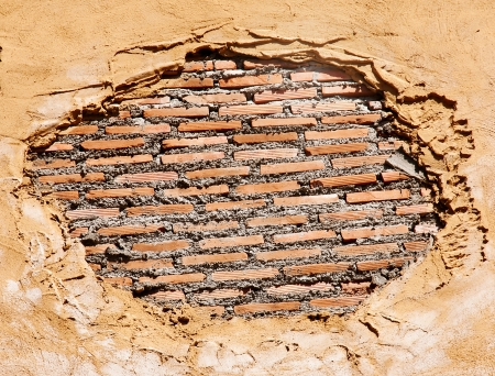 Brick wall with an old plaster as a background Stock Photo - 17714931