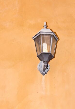 Lamps on the wall to use as a background  photo