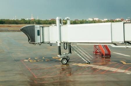 aerobridge at Udon Thani Airport  in thailand