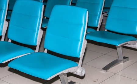 Airport chair, waiting for the plane. Stock Photo