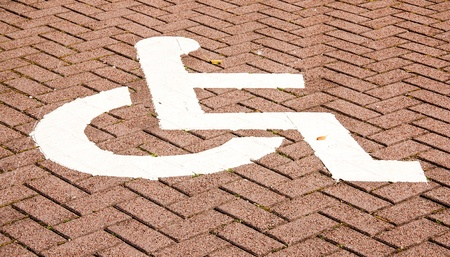 Specific areas. For people with disabilities. Stock Photo