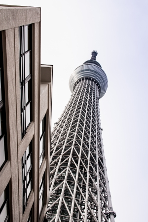 Tower to hight call  Tokyo sky tree in japan Editorial