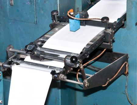 Machinery used for printing paper. Stock Photo