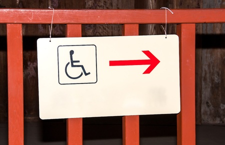 installed: Plates for the disabled to be installed on fence