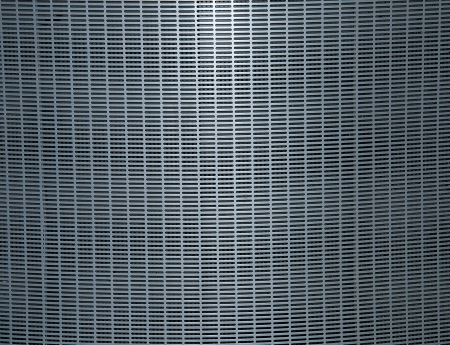 orifice pattern: Steel grating plate, chrome metal surface, background Stock Photo