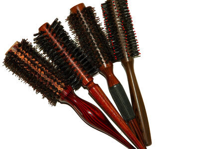 Hair brush comb for women isolated on white background Stock Photo